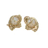 12mm Mabe Pearl 0.50ctw Diamond Cocktail Clip Earrings 14k Yellow Gold 9.8g