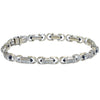 Philippe Charriol Diamond Cabochon Sapphire Tennis Bracelet 7 inches 1.86ctw