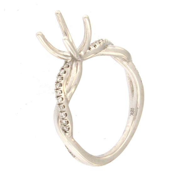 Twisted Band Engagement Ring Setting (.17 ctw)