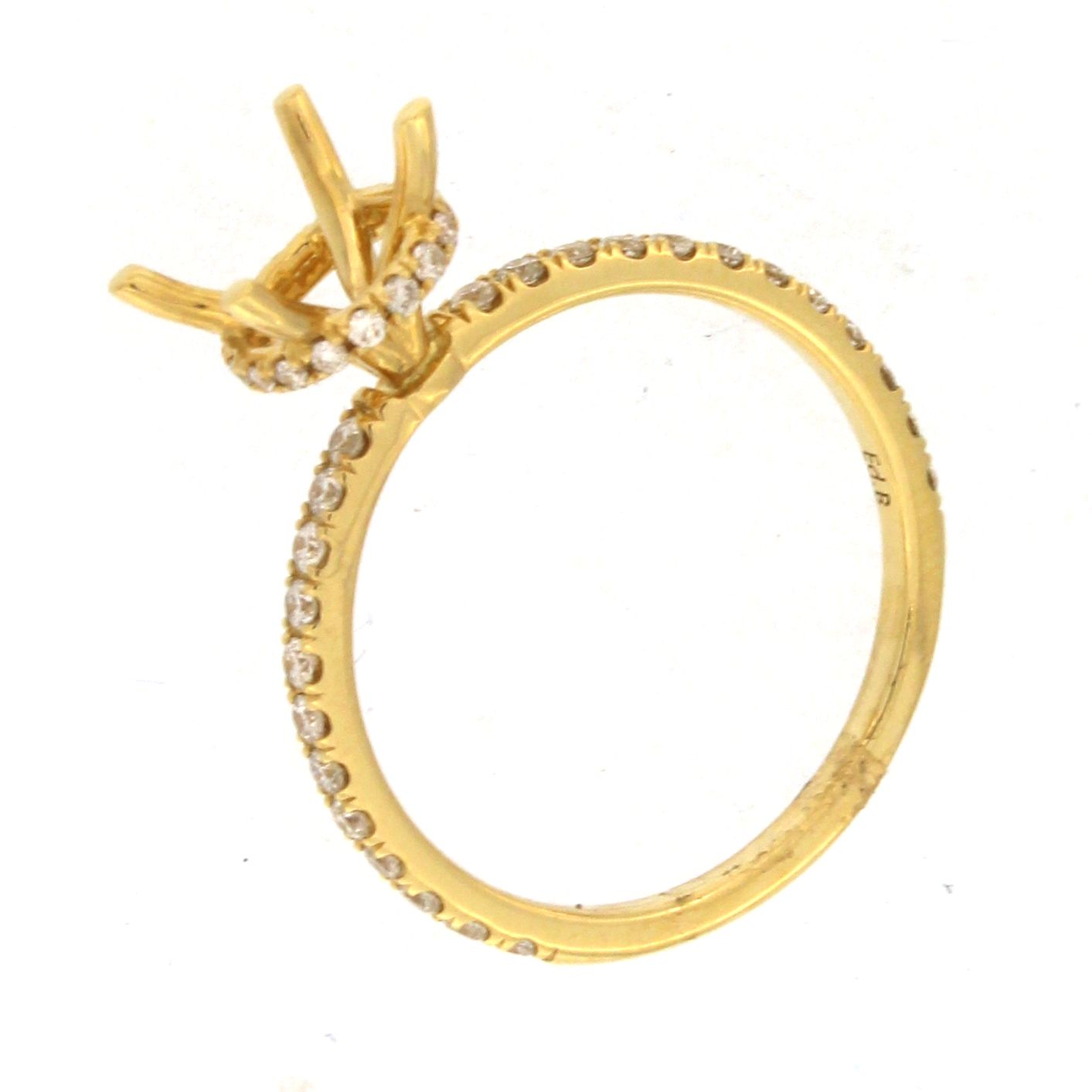 engagement gold round point shank love rings carat products ring of yellow b brilliant diamond