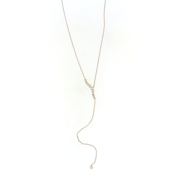 Bubble Diamond Lariat Necklace
