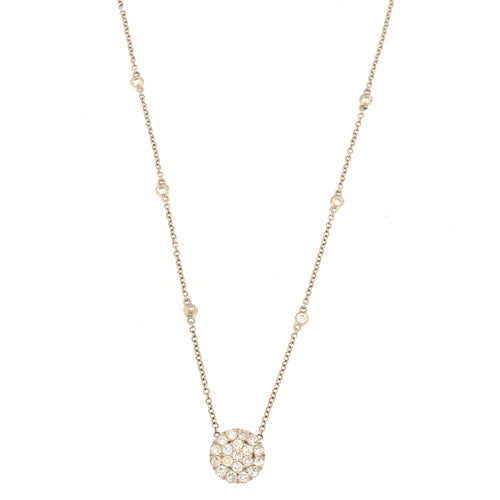 Diamond Cluster Circle Necklace