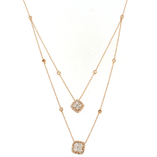 Layered Rose Gold Diamond Pendant