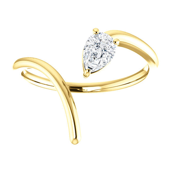 Open Swooped Ring