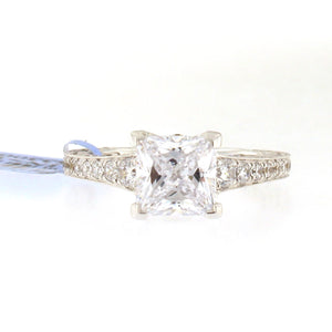 Diamond Band Engagement Ring Setting