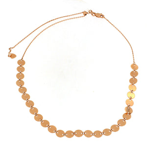 Rose Gold Circle Choker