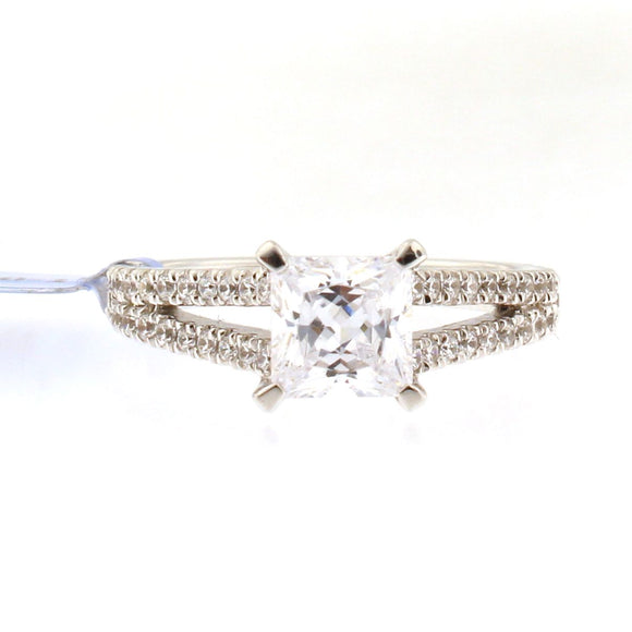 Diamond Engagement Ring Setting with Split Shank