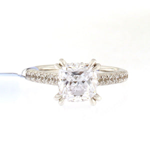 Engagement Ring Setting with Diamond Band