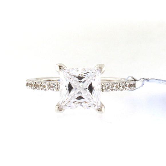 Thin Diamond Band Engagement Ring Setting