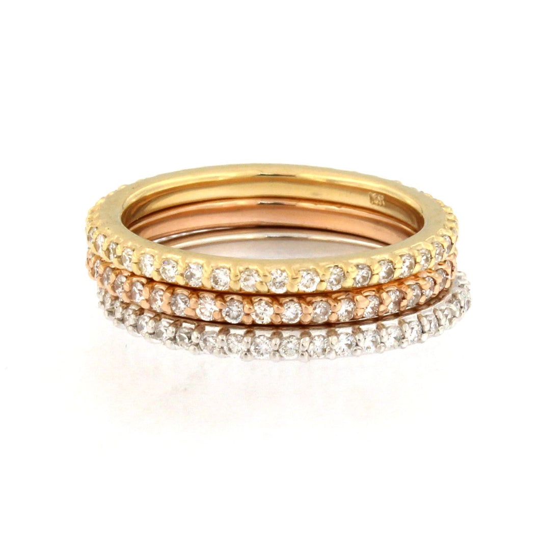 Set of 3 Gold Eternity Bands