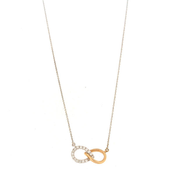 Two-tone Diamond Infinity Necklace