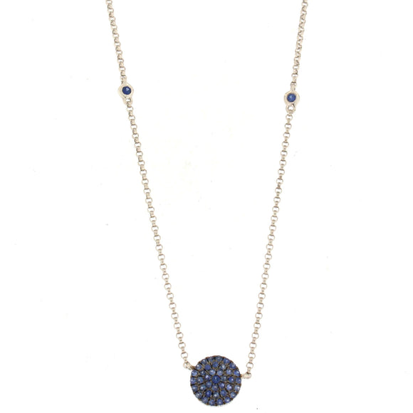 Sapphire Circle Necklace