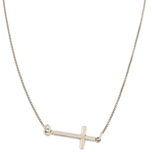 Silver Cross Choker Necklace