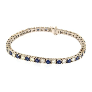 Diamond and Sapphire Tennis Bracelet (2.5 carats)