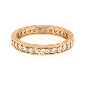 Gold Milgrain Eternity Band (3 Colors)