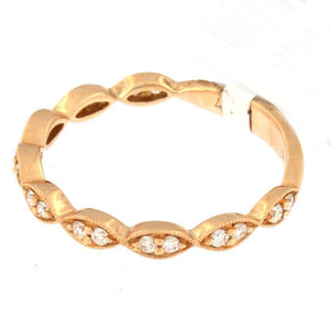 Rose Gold Milgrain Marquise Eternity Band