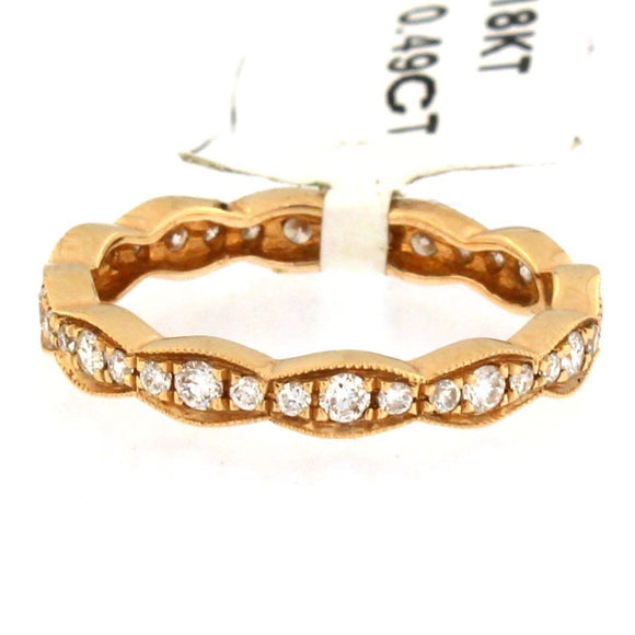 Rose Gold Marquise Eternity Band