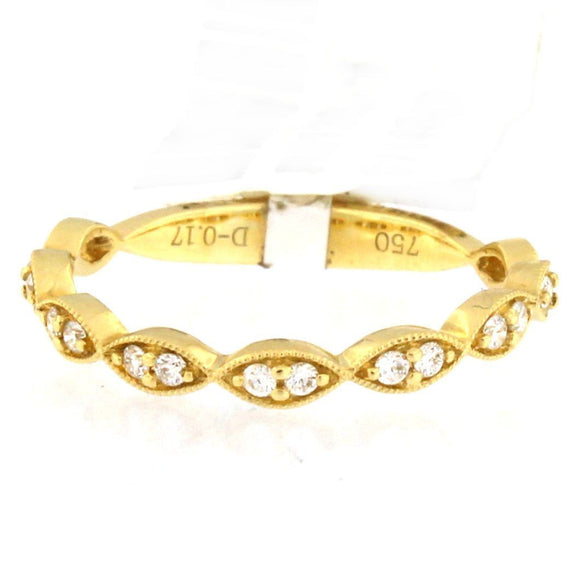 Yellow Gold Milgrain Marquise Eternity Band