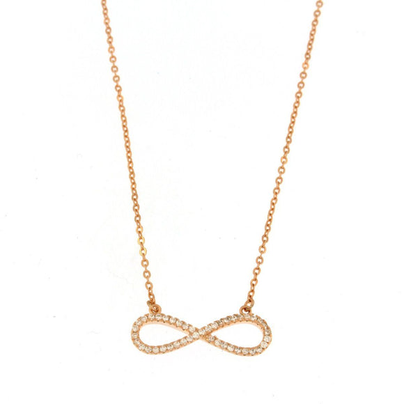 Reversible Gold Plated Infinity Necklace