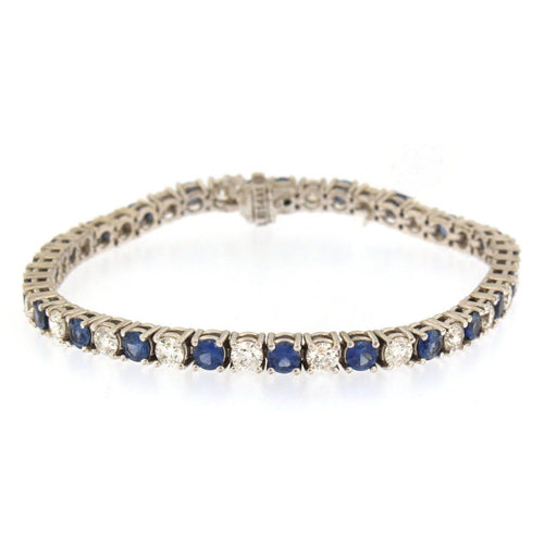Diamond and Sapphire Tennis Bracelet (4.4 carats)