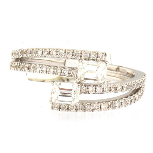 Split Shank Wraparound Diamond Ring