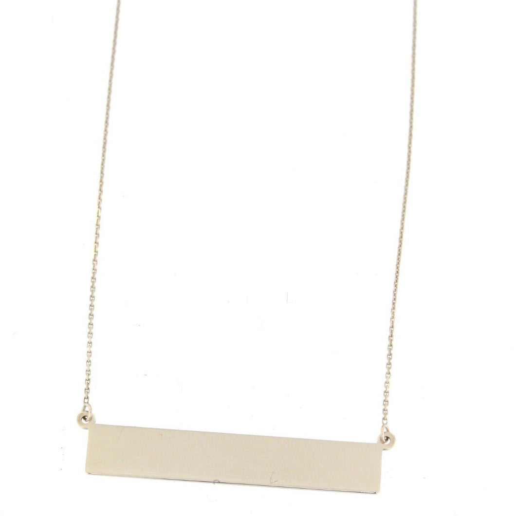Engravable Bar Necklace Sterling Silver