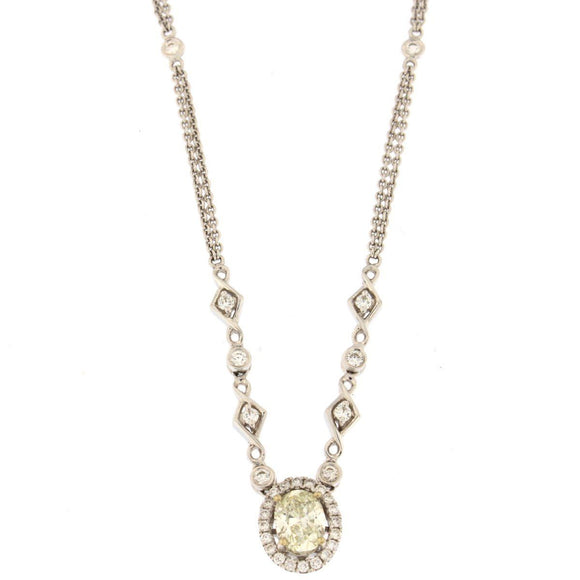 Oval Diamond Pendant Necklace (1.49 CTW)