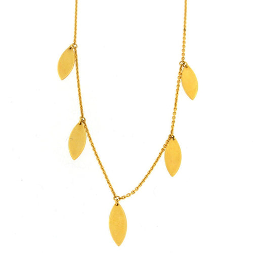 Gold Drop Ovals Necklace