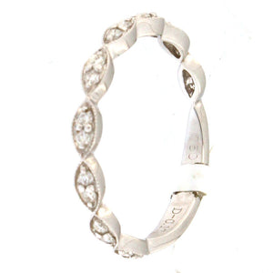 White Gold Milgrain Marquise Eternity Band