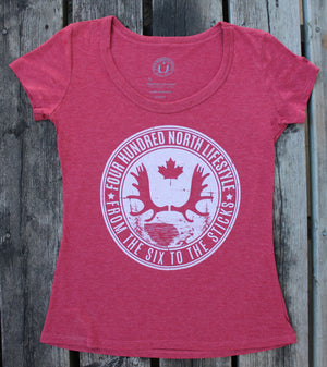Ladies Bamboo Tri-Blend Flowy T-Shirt