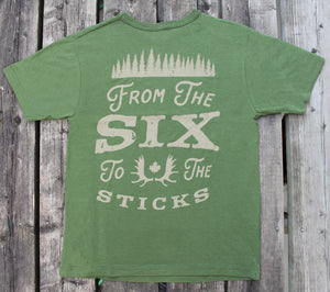 From The Six To The Sticks - Back Print