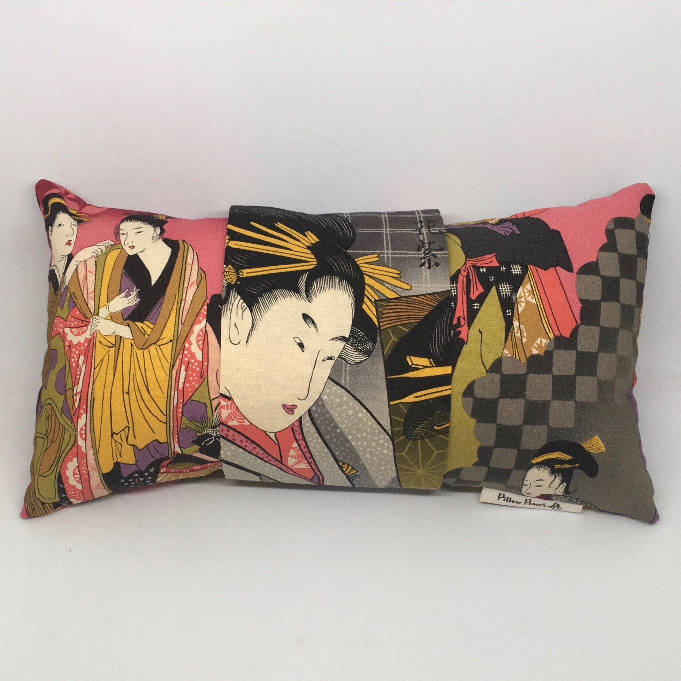 Geisha Pink and Grey -  Pillow Pocket for your Intentions
