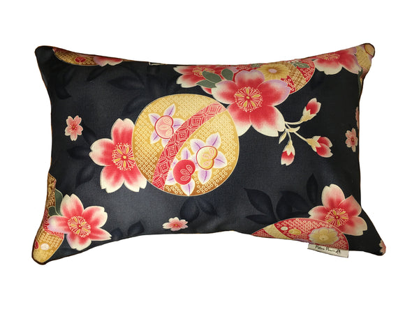 Decorative Pillow in Vintage Japanese  Silk