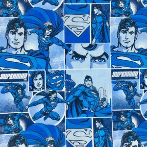 100% Cotton Three-layer Protective Handmade Pleated Face Mask - SUPERMAN - Pre-washed