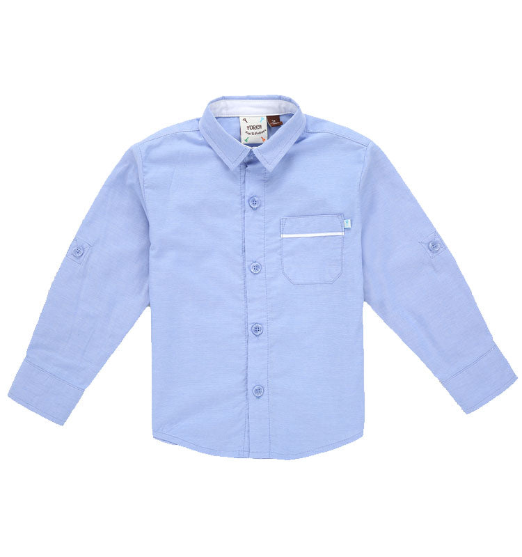 L/S Blue Oxford Roll Shirt