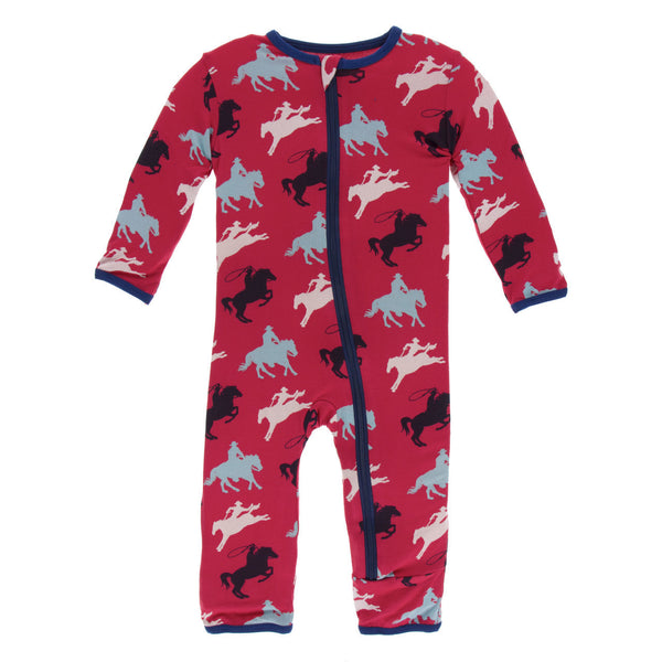 Kickee Pants Coverall Red Cowboy