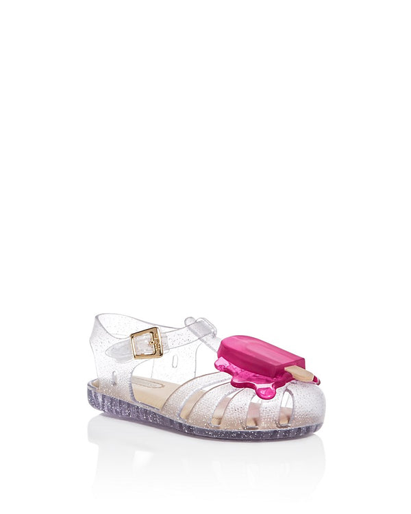 Mini Melissa Girls' Glitter Popsicle Sandals
