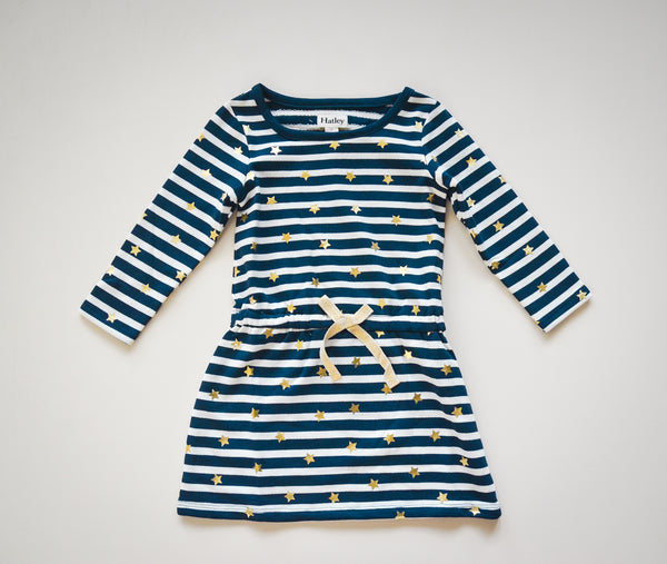 Starry Stripes Terry Dress