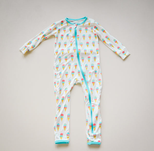 Kickee Pants Coverall Ice Cream