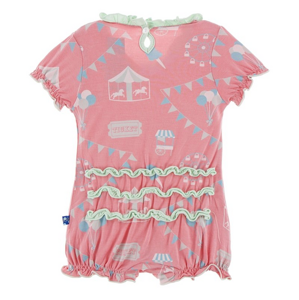 Kickee Pants Ruffle Romper Strawberry Carnival