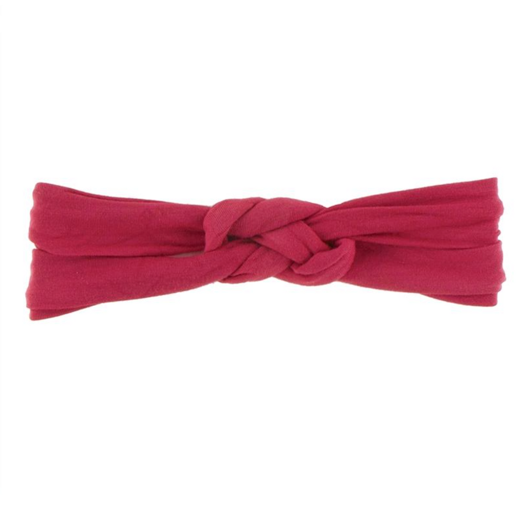 Kickee Pants Knot Headband Flag Red
