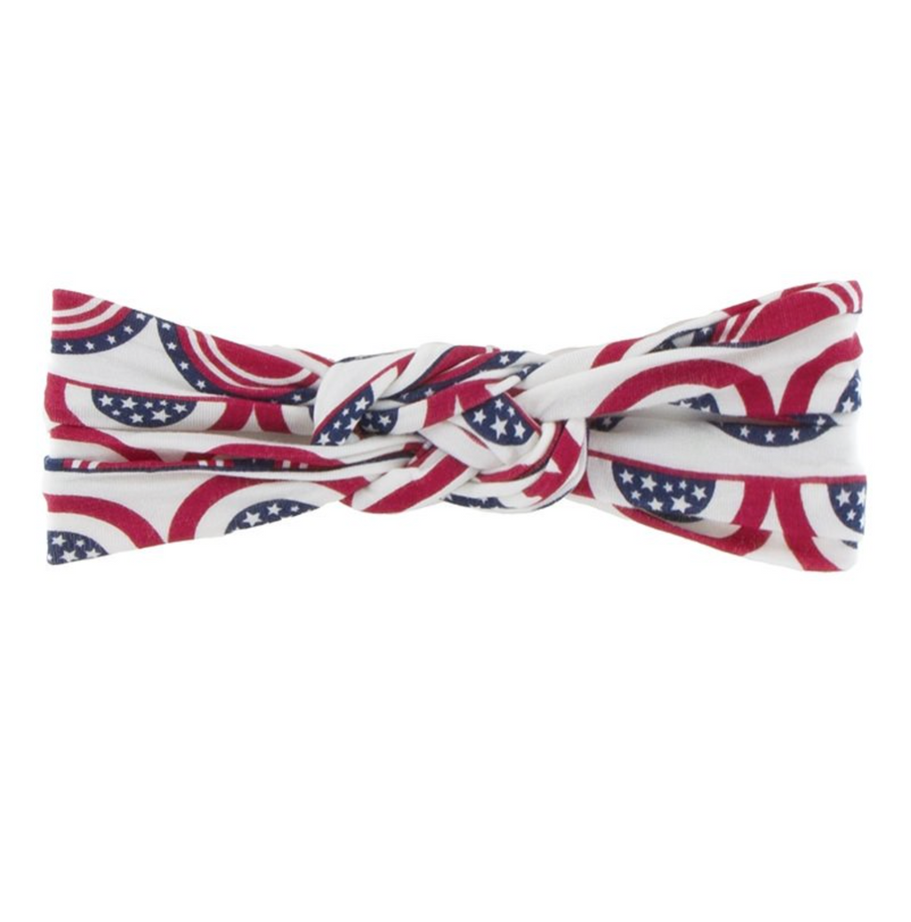 Kickee Pants Knot Headband Flag Swag