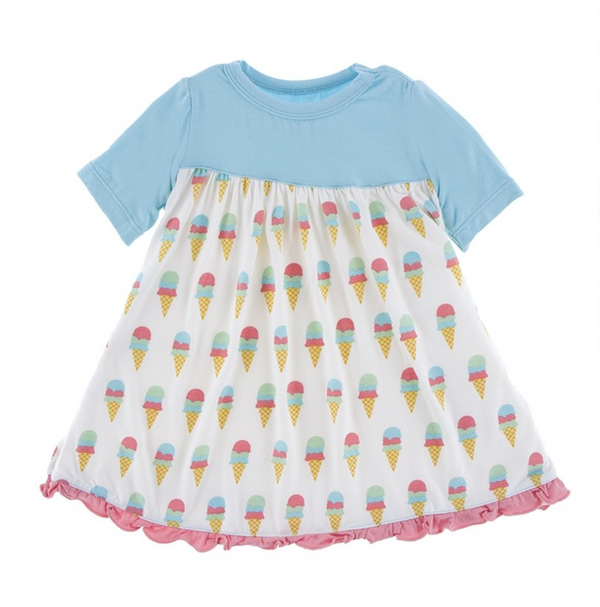 Kickee Pants Classic Swing Dress Ice Cream