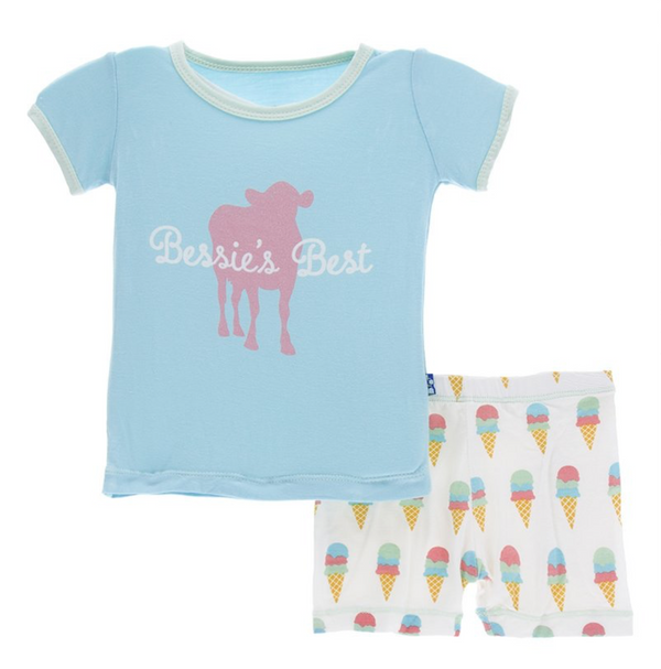 Kickee Pants Pajama Set Ice Cream