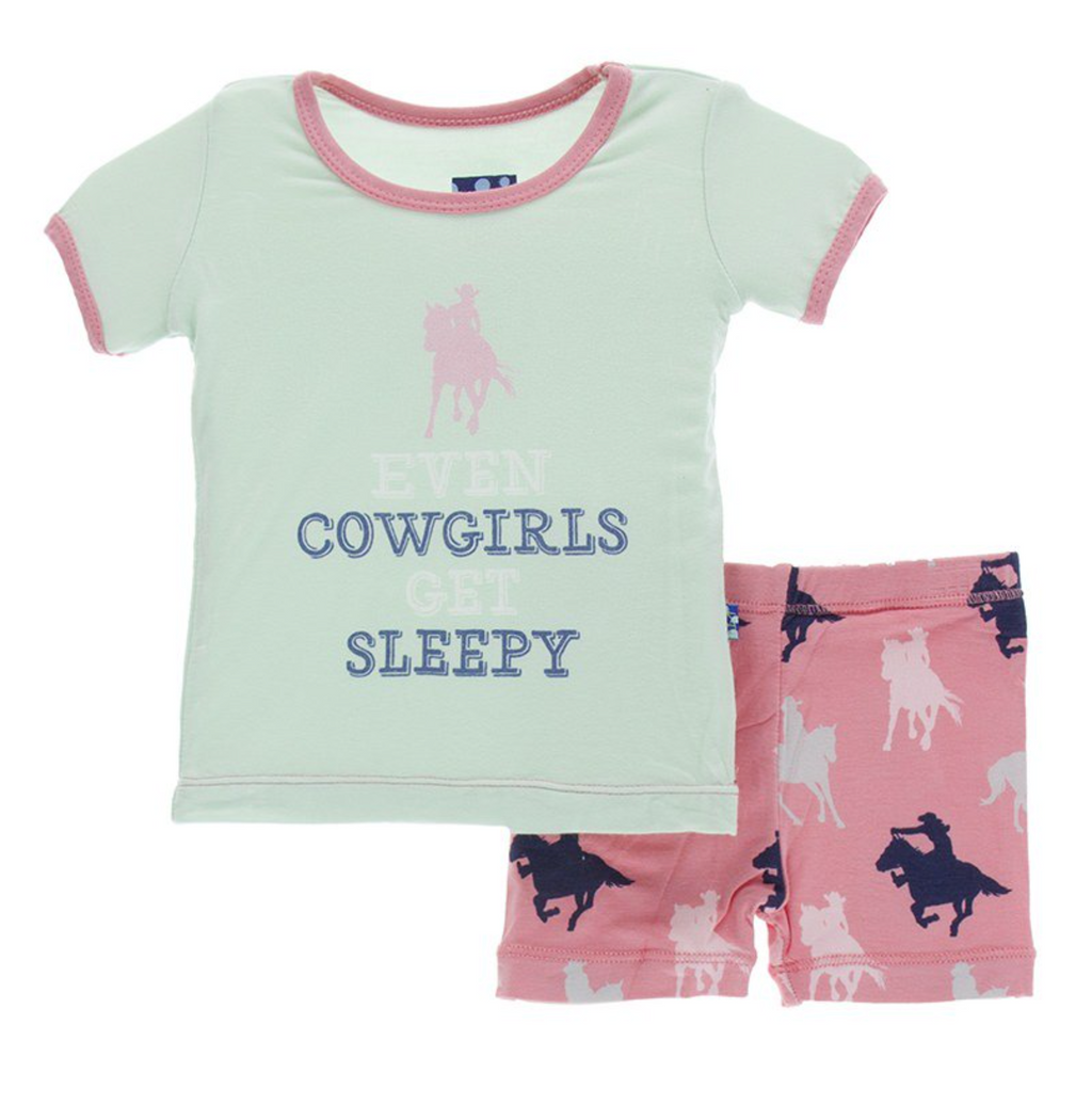 Kickee Pants Pajama Set Strawberry Cowgirl