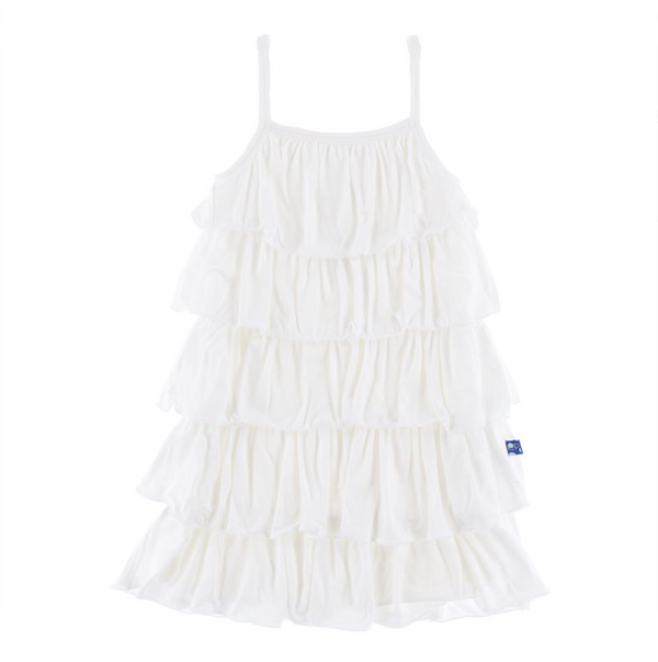 Kickee Pants Tiered Ruffle Dress Natural