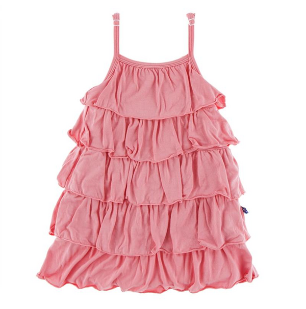 Kickee Pants Tiered Ruffle Dress Strawberry