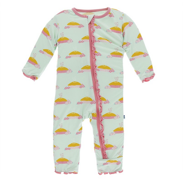 Kickee Pants Muffin Ruffle Coverall Apple Pie Blossom