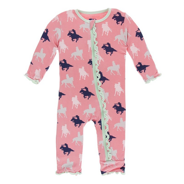 Kickee Pants Coverall Strawberry Cowgirl