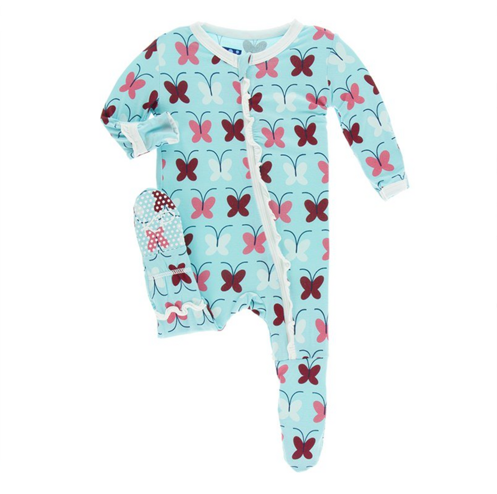 Kickee Pants Classic Ruffle Footie Tallulah Butterfly